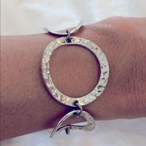 Solid Sterling silver link bracelet